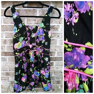 NWT xl knee length dress sleeveless floral